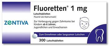 Zentiva Fluoretten Tabletten 1 mg Tabletten (300 Stk.)