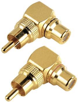 Hama 44087 Cinch Winkel-Adapter (2 Stück)