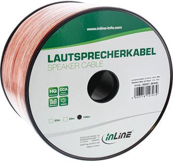 InLine 98200T Lautsprecherkabel 2x 1,5mm² (100m)