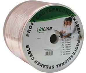 InLine 98425T Lautsprecherkabel, 2x 4mm², CCA, transparent, (25m)