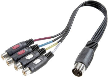 Speaka 50100 Professional Cinch-Adapter Diodenstecker / 4x Cinch