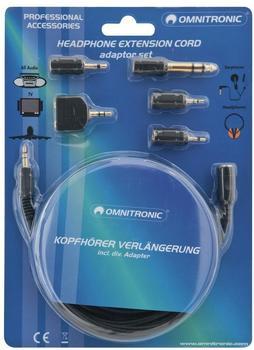 Omnitronic 14006503 Kopfhörerverlängerungs-Kabel (3m)