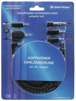 Omnitronic 14006504 Kopfhörerverlängerungs-Kabel (5m)