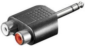 Goobay A 186 6,3mm Klinken-Adapter Stereo
