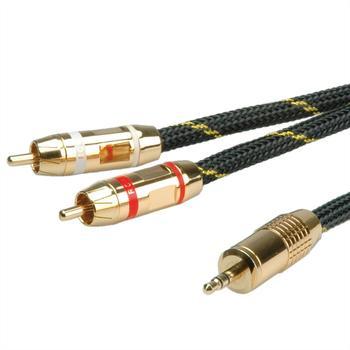 Roline 11.09.4273 Gold Audio-Verbindungskabel (2,5m)