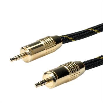 Roline 11.09.4283 Gold 3,5mm Audio-Klinkenkabel (2,5m)