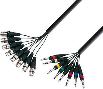 Adam Hall K3L8FV0300 Multicore-Kabel 8x Klinke / 8x XLR-F (3m)