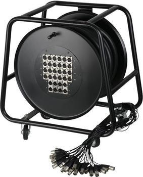 Adam Hall K32C30D Multicore-Kabel auf Trommel mit Stagebox 24/8 (30m)