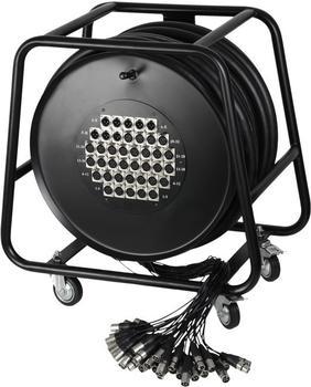 Adam Hall K40C50D Multicore auf Trommel mit Stagebox 32/8 (50m)