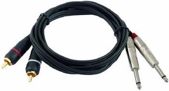 Omnitronic KC2-10 6,3mm Klinken-Adapterkabel (1m)