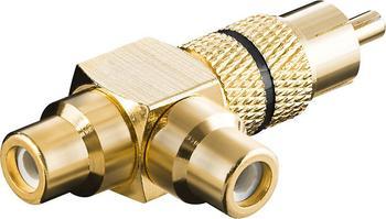 Goobay 11387 Cinch Audio Adapter vergoldet
