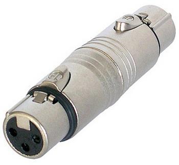 Neutrik Adapter XLR 3pol f auf 5pol f