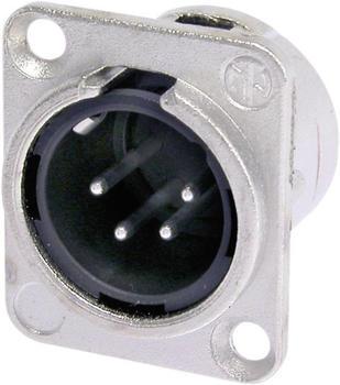 Neutrik XLR-Einbaustecker NC4MDL1 nickel