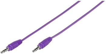 Vivanco Klinke Audio Anschlusskabel [1x Klinkenstecker 3.5 mm - 1x Klinkenstecker 3.5 mm] 1 m Lila