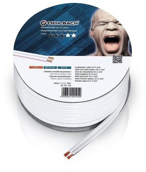 Oehlbach Speaker Wire SP-20 Lautsprecherkabel 2 x 1,5 mm², Mini-Spule weiß 20.00 m