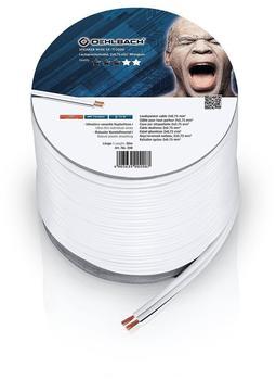 Oehlbach Speaker Wire SP-7 Lautsprecherkabel 2 x 0,75 mm², Mini-Spule weiß 30.00 m