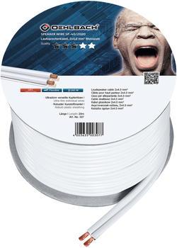 Oehlbach Speaker Wire SP-40 Lautsprecherkabel 2 x 4 mm², Mini-Spule weiß 20.00 m