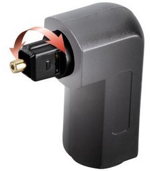 Hama 00122363 ODT-Adapter Toslink-Stecker - Toslink-Kupplung vergoldet 90° (Schwarz)