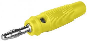 Goobay 10 er Set Bananen-Laborstecker gelb mit Querloch 4 mm, trittfest