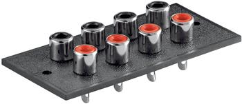 Goobay 10 er Set Cinchterminals rot-schwarz 8 Buchsen mit Lötfahnen