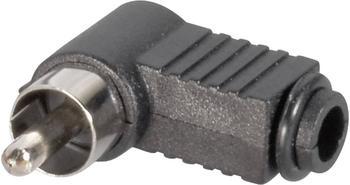 BKL Electronic Cinch-Stecker Schwarz Gewinkelt