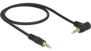 DeLock Klinke 3,5mm Stecker > 3,5mm Stecker schwarz, Abgewinkelt, 50cm