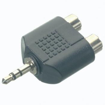 Vivanco Audioadapter, 2,5mm Klinkenstecker 2x Cinchkupplung, kompakt