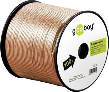 Goobay Lautsprecherkabel 2x 4mm² CCA transparent (50m)