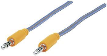 Manhattan Audiokabel - 28 AWG - Stereo 3,5 mm (M) - Stereo 3,5 mm (M) - 1,0m - Blau, orange (352802)