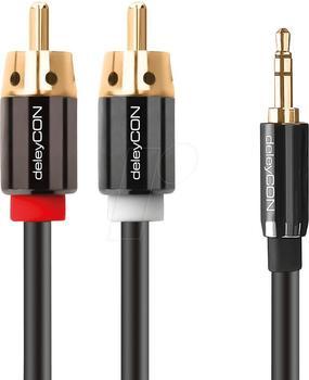 deleyCON PREMIUM Stereo 3,5mm Klinke zu 2x Cinch 15m