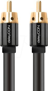 deleyCON Cinch Kabel - RCA Stecker zu RCA Stecker 2m