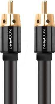 deleyCON Cinch Kabel - RCA Stecker zu RCA Stecker 3m
