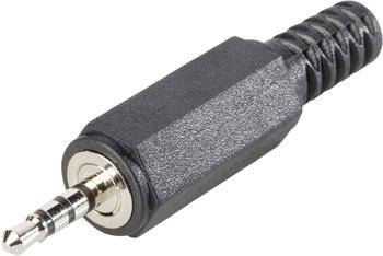 TRU Components Klinken-Steckverbinder 2.5 mm Stecker, gerade Polzahl: 4 Stereo Schwarz
