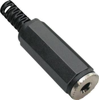 TRU Components Klinken-Steckverbinder 3.5 mm Buchse, gerade Polzahl: 2 Mono Schwarz