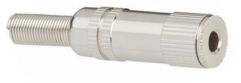TRU Components Klinken-Steckverbinder 3.5 mm Buchse, gerade Polzahl: 2 Mono Silber