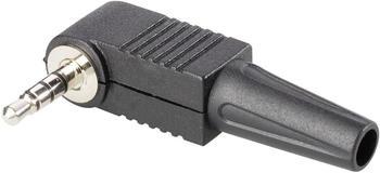 TRU Components Klinken-Steckverbinder 3.5 mm Stecker, gewinkelt Polzahl: 4 Stereo Schwarz