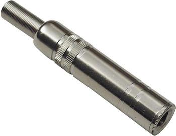 TRU Components Klinken-Steckverbinder 6.35 mm Buchse, gerade Mono Silber