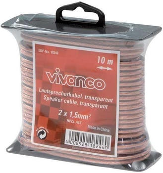 Vivanco 18246 Lautsprecherverbindung 2 x 1,5mm² (10m)