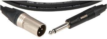 Klotz M1MP1N1000 Neutrik XLR-Stecker 6,3mm Mono-Klinke-Signalkabel, 10 m