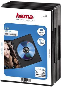 Hama 51181 DVD-Leerhülle Slim (10er-Pack)