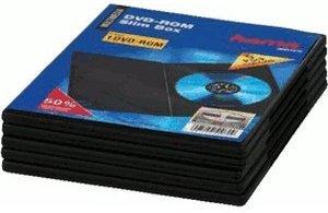 Hama DVD-Leerhülle Slim 5, Schwarz (51180)