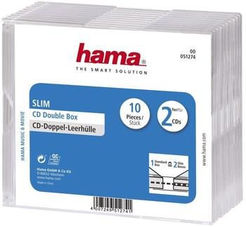 Hama 51274 CD-Leerhülle Slim Double