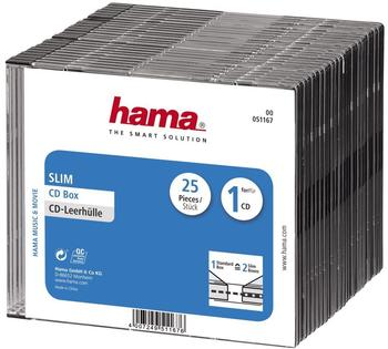 Hama 51167 CD Box Slim 25er Pack