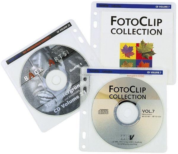 Hama 62611 CD-ROM Pockets 100 Schutzhüllen