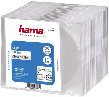 Hama 51165 CD-Leerhülle Slim 25er-Pack