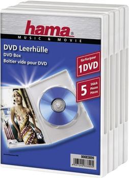 Hama DVD-Leerhülle 5, Weiß (83899)