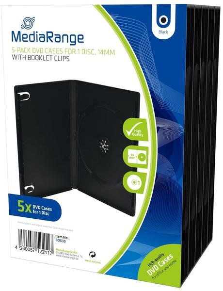MediaRange BOX30 5er-Pack DVD-Hüllen für 1 Disc 14mm