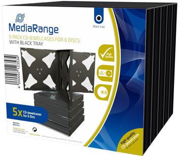 MediaRange BOX34-6 5er-Pack DVD-Hüllen Slim für 6 Discs 9mm