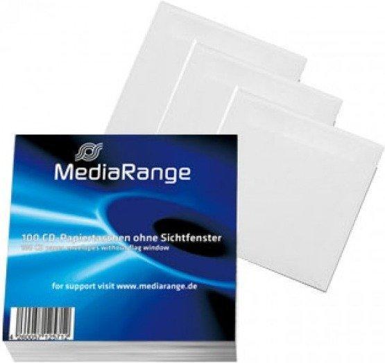 MediaRange BOX62 100 CD-Papierhüllen ohne Sichtfenster