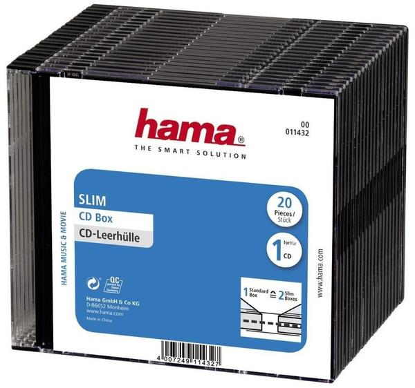 Hama 11432 D-Slim-Box 20er-Pack Schwarz Vorratspack